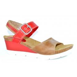 Zapato sandalia combinado rojo SONDISAN
